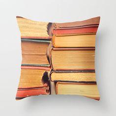 Pillow Cover Book Pillow Orange Pillow Books by Happy Pillow Shop