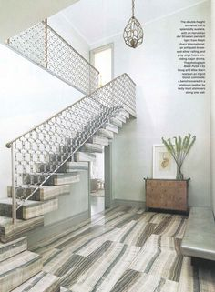 Silver Cloud travertine floors and steps. Amazing.