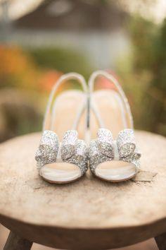 Silver Glitter Kate Spade bridal shoes