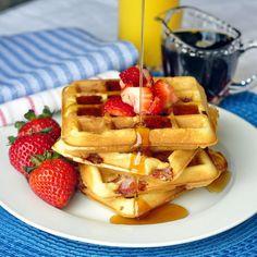Strawberry Muffles - waffles made from muffin batter!