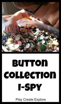 ButtonArtMuseum.com -Button Collection I-Spy Game. Simple indoor quiet game.