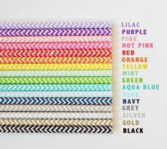 Rainbow Striped or Chevron Paper Straws (Set of 25) birthday parties, chevron paper, straw set, paper straws, rainbow stripe, parti idea