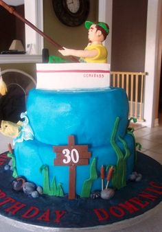 Gone Fishing  Cake by Sandravee1