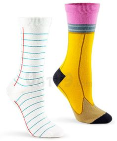 Pencil and Paper socks.