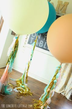 DIY Glam Graduation Party -adore the oversized tassel balloons