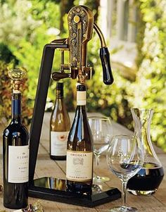 Superior in style and quality, our Granite Base Wine Opener uncorks wine bottles with a simple pull that makes you look professional.
