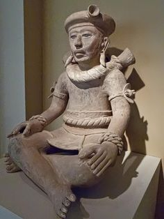 Another Seated Figure from Veracruz, Mexico 800-1200 CE Ceramic  Portland Museum