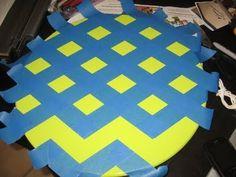 kitchens, chevron patterns, tutorials, lazy susan, kitchen tables, tape, chevron stipe, table for two, chevron stripes