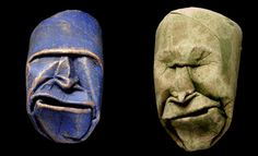 Origami Toilet Paper Roll Masks by Fritz Junior Jacquet