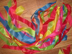 Fun ribbon rings for gross motor development
