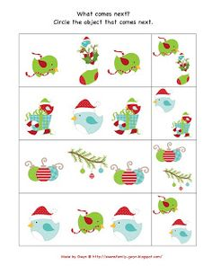 Preschool Christmas Printables
