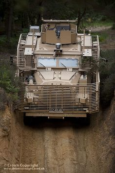 Pictured is Wolfhound, part of the Tactical Support Vehicles Group, during a demonstration at Aldershot.