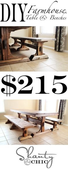 Farmhouse Bench & Table