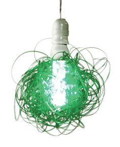 Recicled lamp. Contenido Neto, Argentina.