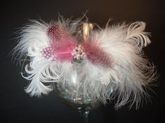 Pink Wink Feather and Freshwater Pearl by SavvyEmbellishments, $11.95