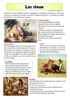 Les sioux-lecture documentaire