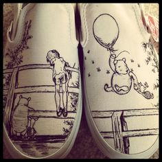disney shoe, shoe project, winnie the pooh shoes