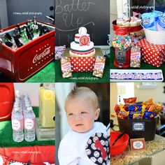 Baseball party. Super cute to incorporate Baby Ruth bars
