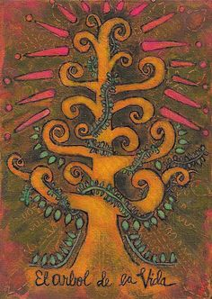 Tree of Life note card set Arbol de la Vida by treeoflifestudio
