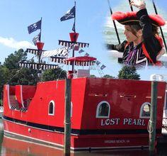 "Time to get your ""Pirate On""! Step aboard Capt Jack's Pirate Ship ADventure... if you dare!  Aaargghh!  #LostPearl #PirateShip #CaptJack   Siebert Realty - The Beach People Sandbridge Beach - Virginia Beach, VA"