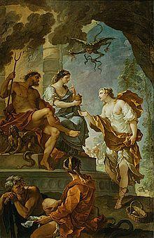Psique obteniendo el elixir de Prosperina  Pintura de Charles Joseph Natoire  Laura Cristina Revilla Sanchez