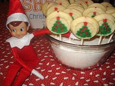 Have your Elf leave the kids a note asking them to plant his magic seeds (Tic Tacs) into a bowl of sugar for a sweet surprise. When they wake up the next morning the seeds will have grown into cookies.