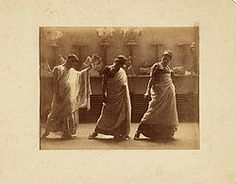 We at the Archives of American Art are super-psyched for the Olympics to start! And what better way to honor that ancient Greek tradition than with these three models sporting some togas?  Men in classical costume, ca. 1883 / unidentified photographer. Thomas Anshutz papers, Archives of American Art, Smithsonian Institution.