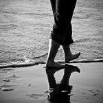 Go walking on the beach