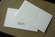 milk business cards.