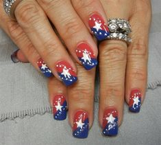 Dotted Stars 1 by aliciarock from Nail Art Gallery