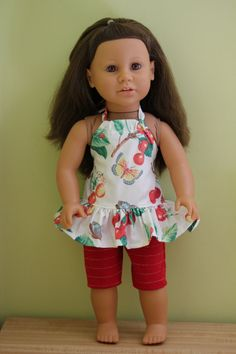 18 inch doll clothes halter top and red by magoogesmusedesigns, $9.99