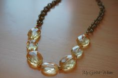My Girlish Whims: Chunky Yellow Bead & Chain Necklace