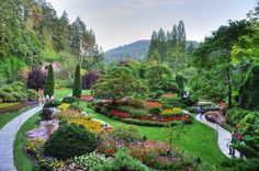 The famous Butchart Gardens in British Columbia.