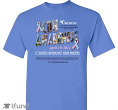 Check out CDH Awareness Day 2014 fundraiser t-shirt. Buy one & share it to help support the campaign! Get an official 2014 CDH Awareness Day shirt!    Just $20.00 each.  Kids sizes available.  Wings on back!  Proceeds go to help CDH families!     Order by March 28th!  http://www.tfund.com/cdhawareness