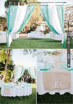 teal wedding ideas   VIA #WEDDINGPINS.NET