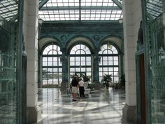 The interior of the Henry M Flagler Museum Pavilion is meant to evoke the architecture of the Victorian and Gilded Age, similar to the Great Exposition halls and railway stations built during the height of the Industrial Revolution.