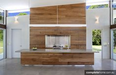 Timber kitchen design trend from Mojo Designs.