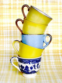 teacups...yellow and blue :)