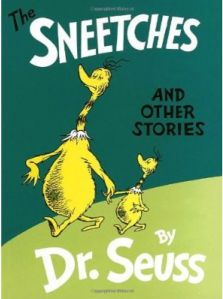 The Zax by Dr. Seuss- Conflict Resolution lesson. I have also used The Sneetches to talk about diversity/bullying/cliches.