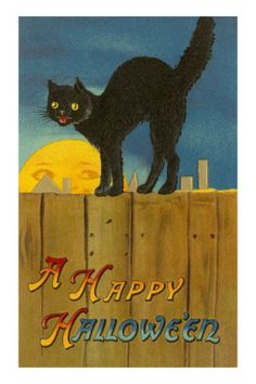 A Happy Halloween to one and all! #vintage #Halloween #cards #cats