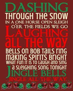 Jingle Bells Subway Art Print - free download!