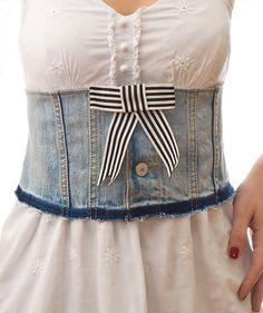 Handmade Denim Corset Belt
