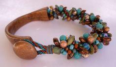 bead bracelet, inspir jewelri, kumihimo bracelet, hooks, bracelets, antelop bead, beads, bead jewelry, antiques