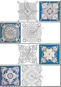 picasa web, crochet motif, crochet squares, granni squar, squar motif, die motiv, web album, crochet square motif, crochet diagram patterns
