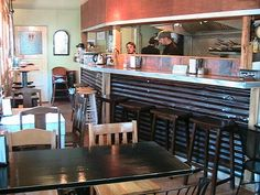 small cafe interior decorating ideas - chair and table