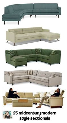 MCM sectional sofas