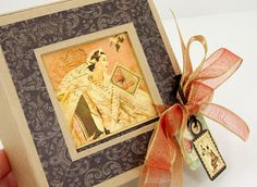@Becky olsen made a stunning Le Romantique Necklace Gift Box! Beautiful! #graphic45 #jewelry box #DIY