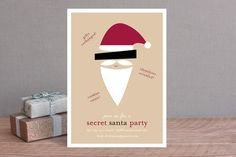 Secret Santa Party Invitation. Very clever.