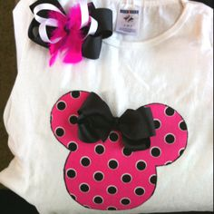 Shirts and bows for Disney!!!