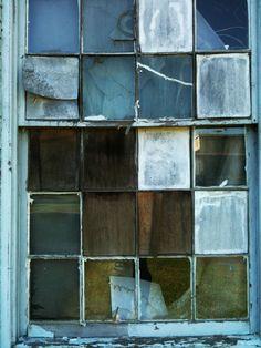 abandoned factory window